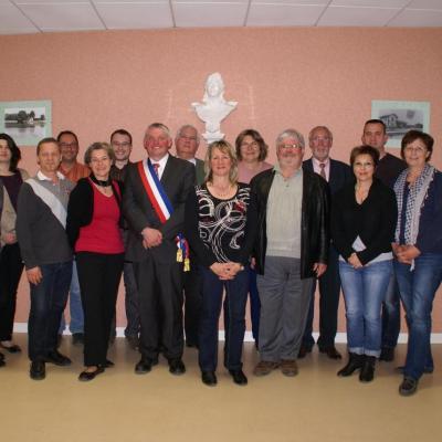 Le nouveau conseil municipal élu le 23 mars 2014