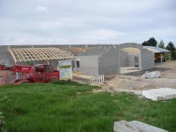La construction de l'école